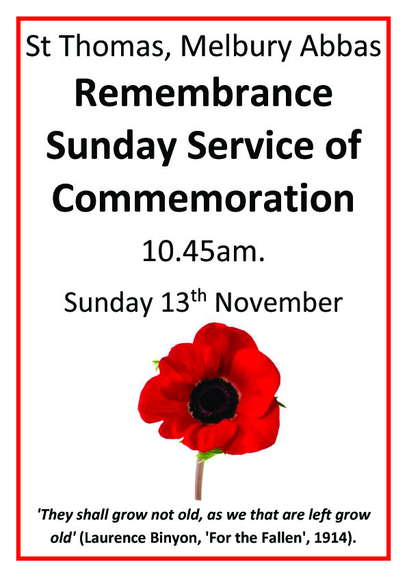 Remembrance Sunday: Service of Commemoration