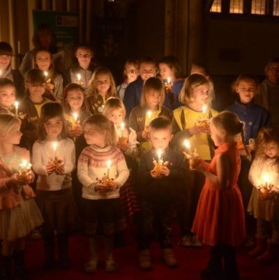 Team Christingle at St Peter's, supporting the Children's Society