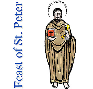 Sunday 25th June 2017 – Feast of St Peter