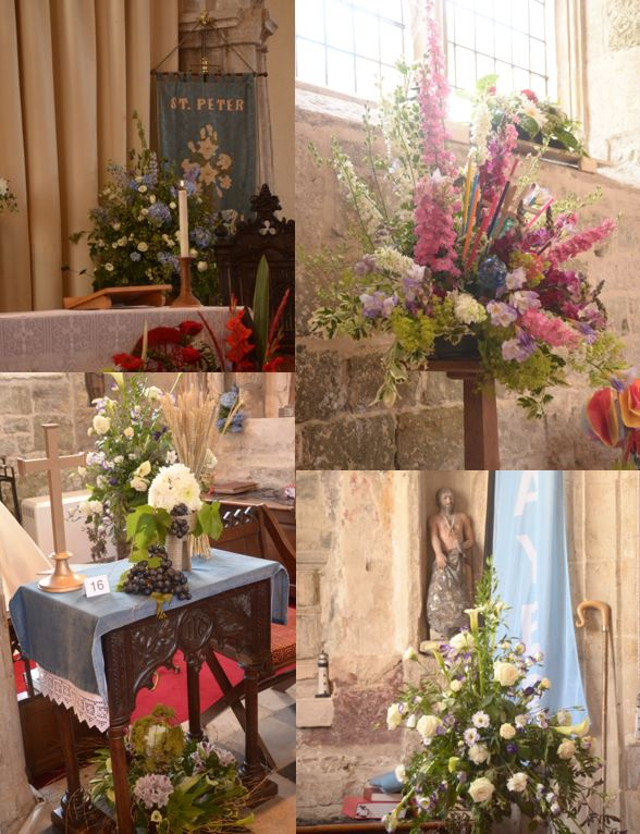St Peter's re-dedication service and flower festival