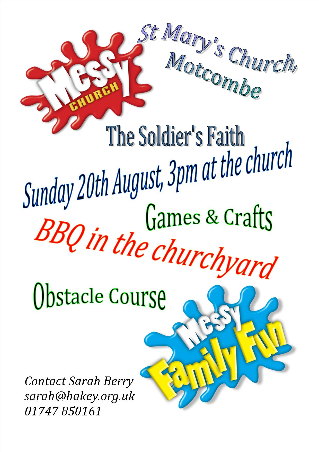 Messy Church at Motcombe!