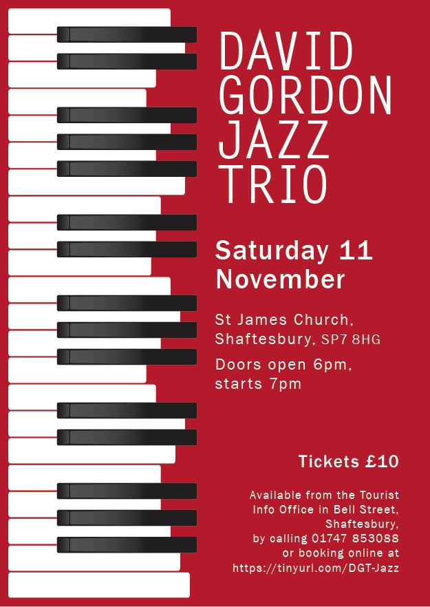 Dave Gordon Jazz Trio performing at St James'