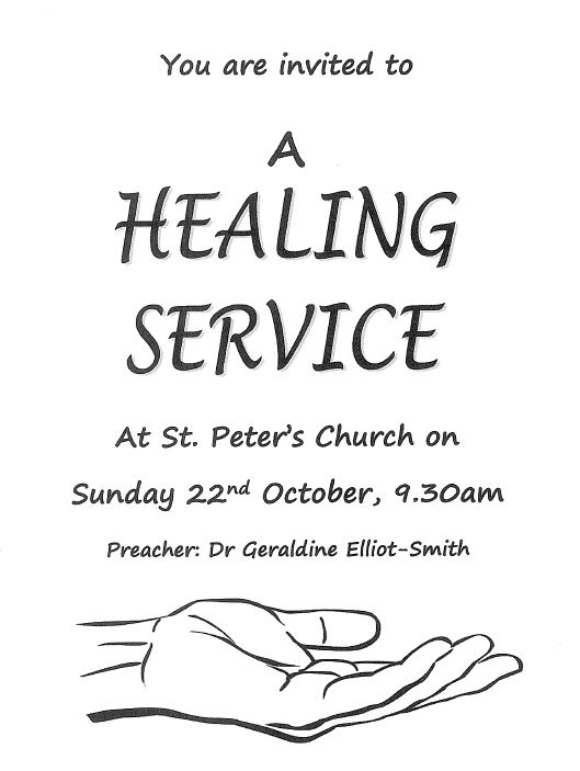 Healing Service at St Peter's