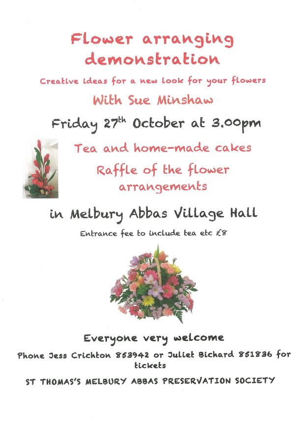 Flower Arranging Demonstration at Melbury Abbas