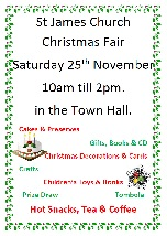 St James' Christmas Fair in the Town Hall
