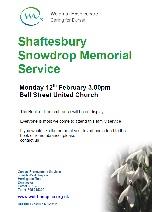 Shaftesbury Snowdrop Memorial Service