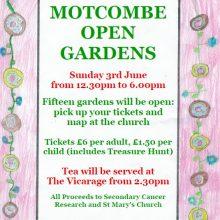 Motcombe Open Gardens - This Sunday 3rd of June!