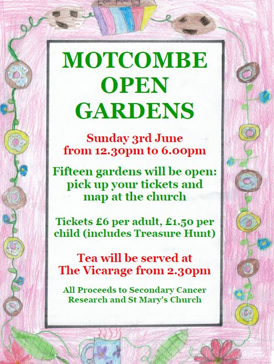 Motcombe Open Gardens – This Sunday 3rd of June!
