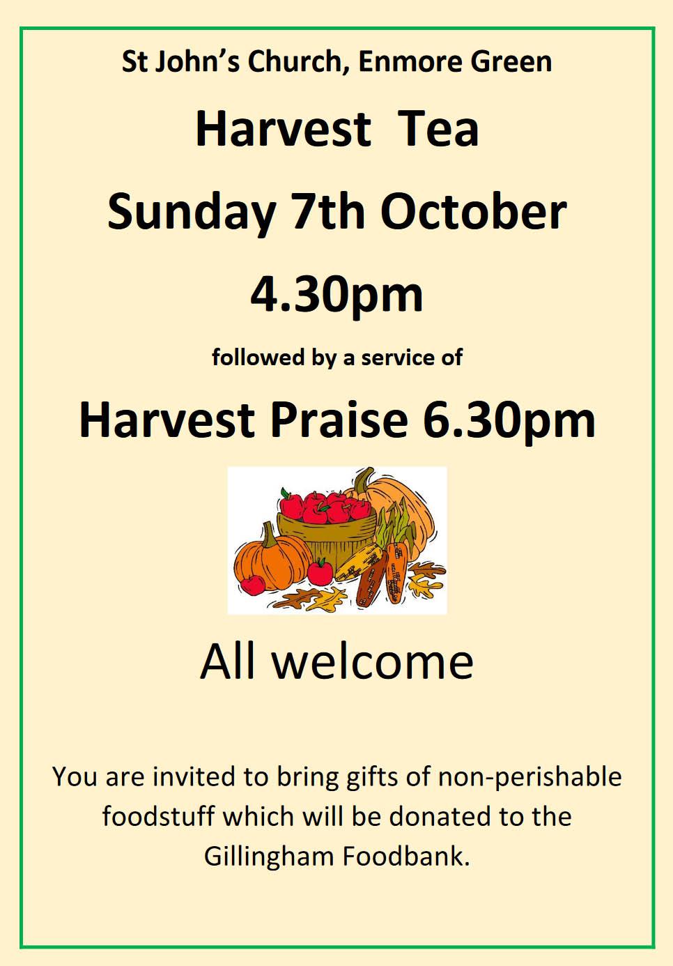 Harvest Tea and Praise