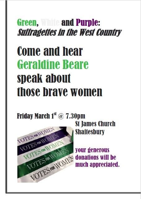 Green, White & Purple: Suffragettes in the West Country