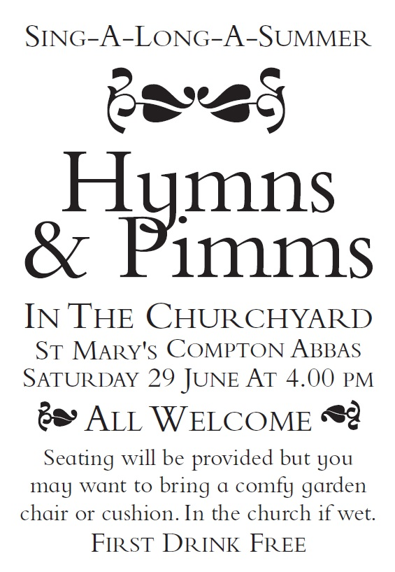 Compton Abbas Hymns & Pimms – 29th June