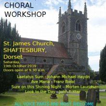 Choral Workshop at St James' - 19th October