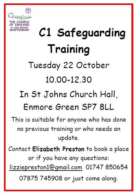 C1 Safeguarding Training – 22nd October