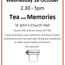 Tea & Memories - 16th October