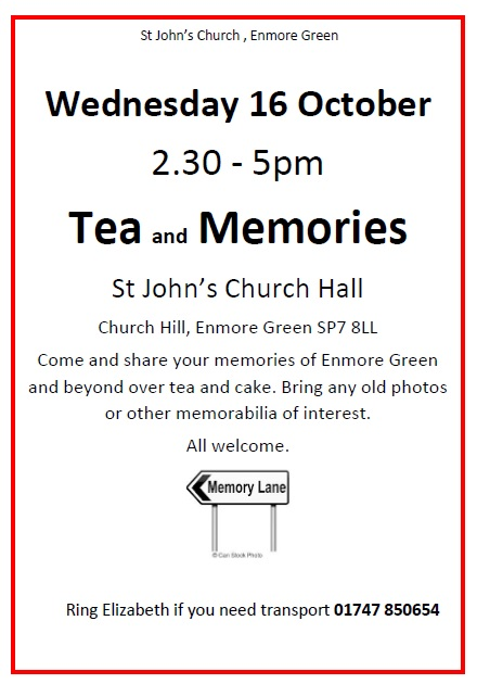 Tea & Memories – 16th October