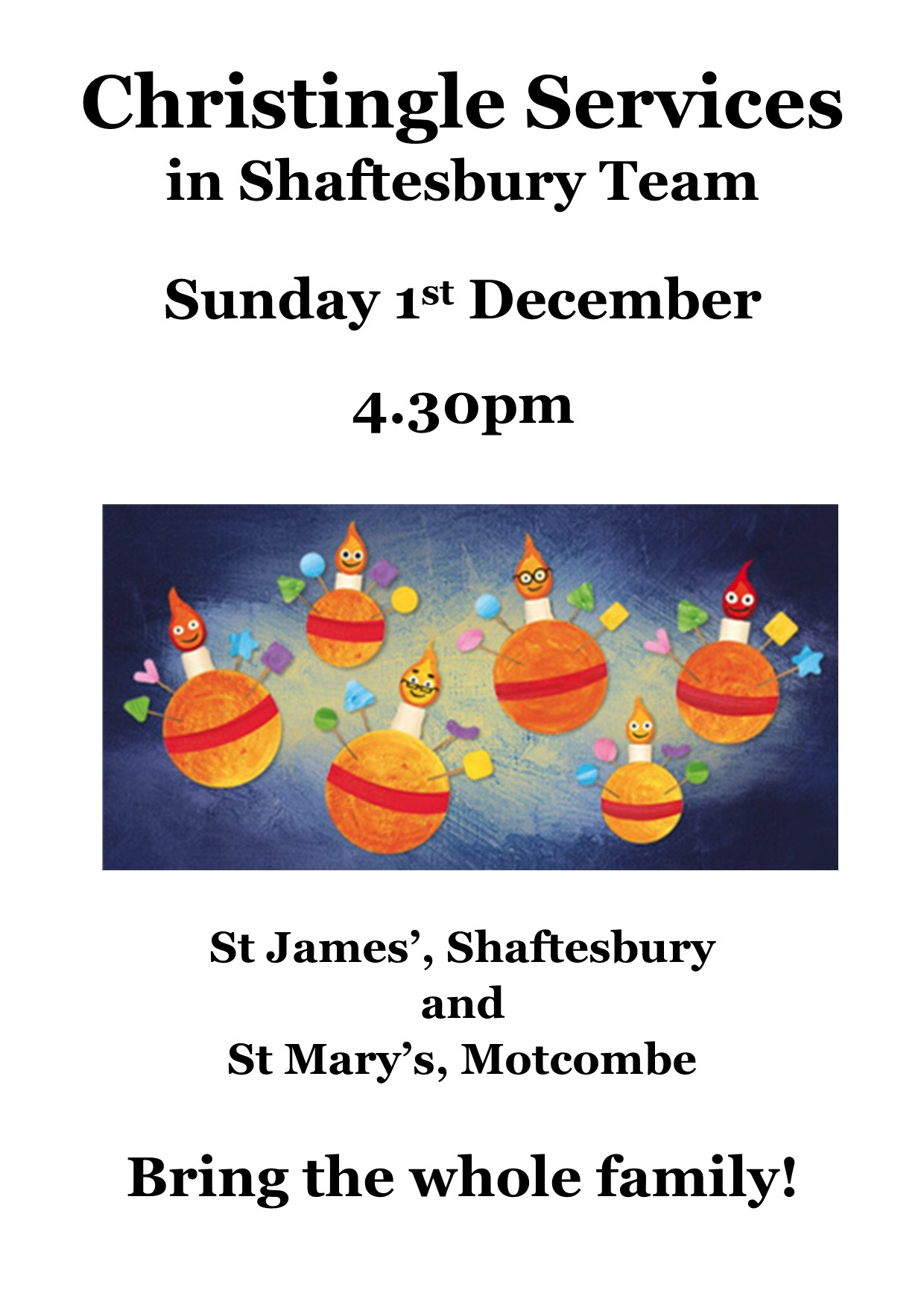 Christingle Services in Shaftesbury Team – 1st December