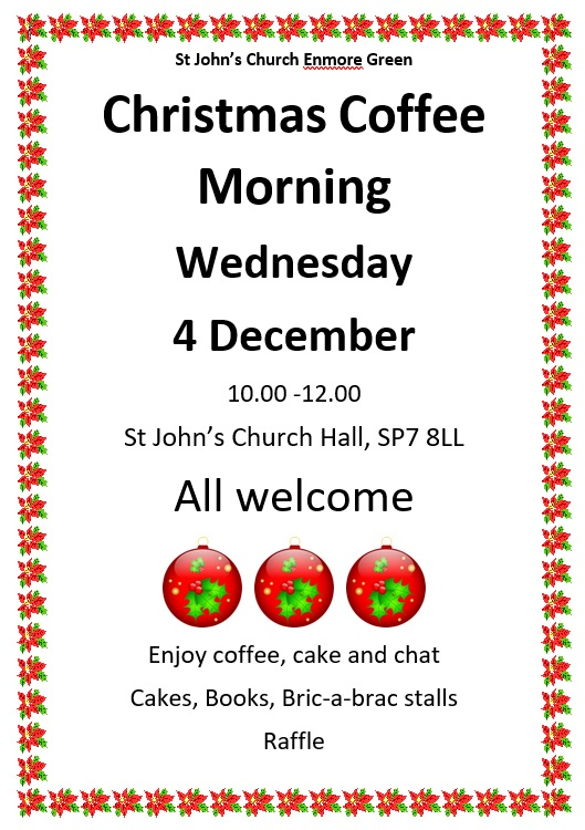 Christmas Coffee Morning – 4th December