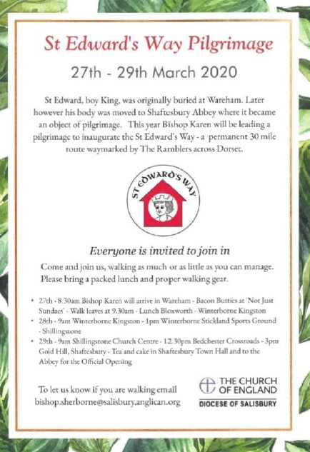 St Edward's Way Pilgrimage: 27th-29th March