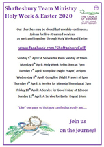Services for Holy Week & Easter