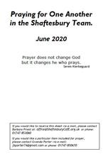 Team Prayers for June