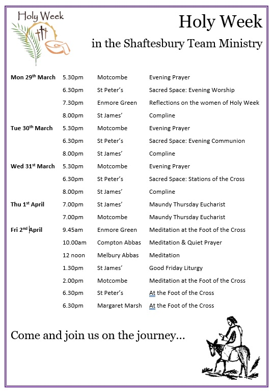 Services for Holy Week