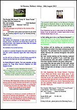 Pew Sheet 18th Aug 2013