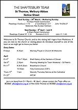 Pew Sheet 30th Mar 2014
