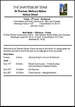 Pew Sheet 8th Jun 2014