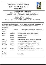 Pew Sheet 6th Jul 2014