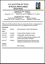 Pew Sheet 13th Jul 2014