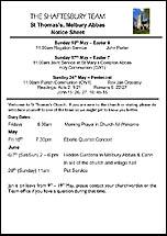 Pew Sheet 17th May 2015