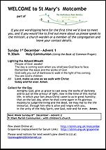 Pew Sheet 1st Dec 2013