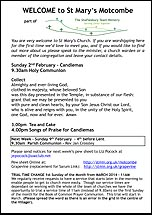 Pew Sheet 2nd Feb 2014