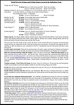 Pew Sheet 28th Jul 2013