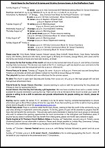 Pew Sheet 11th Aug 2013
