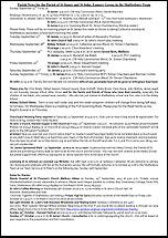 Pew Sheet 15th Sep 2013