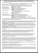 Pew Sheet 8th Dec 2013