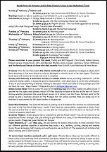 Pew Sheet 9th Feb 2014