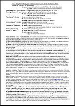 Pew Sheet 23rd Feb 2014