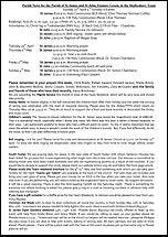 Pew Sheet 27th Apr 2014