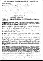 Pew Sheet 4th May 2014