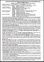 Pew Sheet 7th Sep 2014