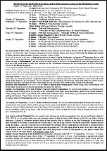 Pew Sheet 14th Sep 2014