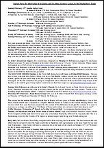 Pew Sheet 15th Feb 2015