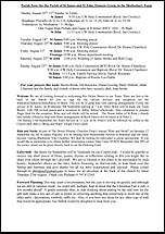 Pew Sheet 16th Aug 2015