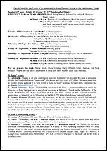 Pew Sheet 13th Sep 2015