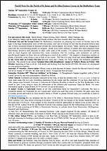 Pew Sheet 20th Sep 2015