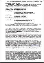 Pew Sheet 31st Jul 2016