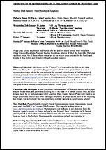 Pew Sheet 22nd Jan 2017